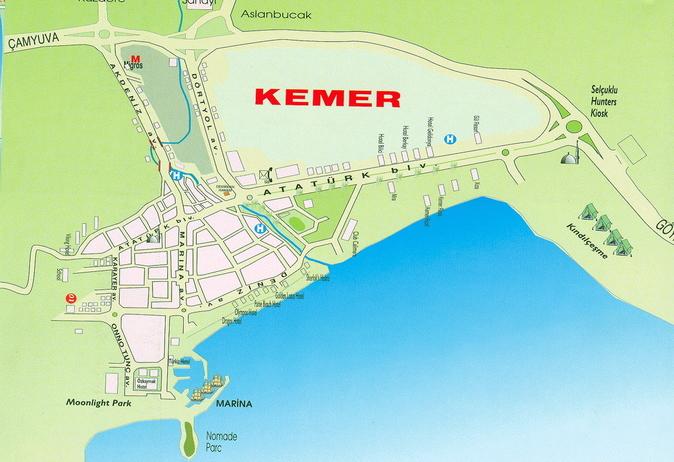 Карта-схема Кемера