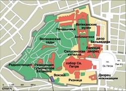 Карта Ватикана на русском