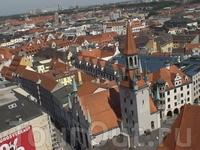 Мюнхен с высоты птичьего полета. Вид на старую ратушу.