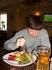 в кафе телек со спортивным каналом....а еще нас три раза в кафешках не понимали по поводу темного пива (((( это лично мое разочерование...и в меню днем ...