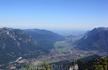 Вид на Гармиш-Партенкирхен с платформы  AlpspiX