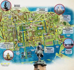 карта кронштадта с достопримечательностями скачать
