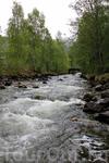 река, спускающаяся с гор в воды Нордфьорда