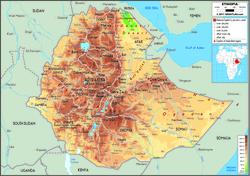 Карта Эфиопии