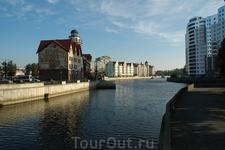Калининград вид на Рыбную деревню