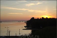 Белая речка. Закат над Горьковским морем