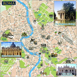 Карта города Рим