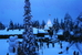 Деревня Санты рождественским утром