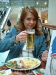 жена культурно отдыхает - пересадка во Франкфурте