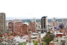Вид из окна на столицу Колумбии Боготу