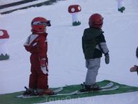 Учимся кататься на лыжах 1
