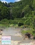 Парк Фурнаш (Furnas) - район вулканической активности, о чем и предупреждает надпись о природном кипятке