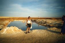 Пересыхающее озеро пустыни