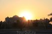 Закат в Абу-Даби. Пора домой.