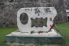Памятник адмиралу Ушакову за помощь в освобождении острова от французских войск. Новая крепость г.Керкира