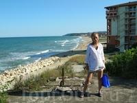 Вид на пляж Обзора с территории отеля Sol Luna Bay