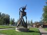 """Памятник """"Эра космоса"""" (как еще несколько памятников) расположен возле НПО """"Сатурн"""""""