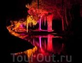 Световое шоу в пещере Lake Cave.