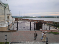 Территория Казанского Кремля. Вид на реку Казанка.
