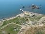 Генуэзская крепость. Вид из крепости на причал.