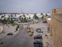 Центральная площадь Хаммамета со стены крепости
