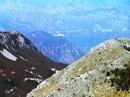 Вид с горы Ловчен на Бока Которскую бухту.