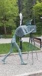Скульптура фотографа в Боржоми