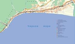 Карта дорог Гагры
