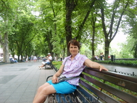 Отдых на Приморском бульваре.