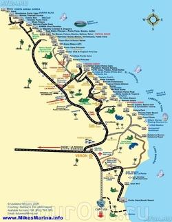 Карта Пунта-Каны для туристов