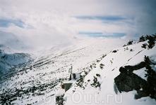 А это собственно место катания - где есть горы, солнце, ветер и облака...