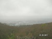На Провале; город в тумане