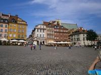 Варшава,  старый город,  площадь  Сигизмунда