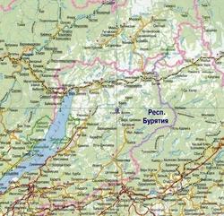 Северобайкальск на карте