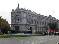 Здание банка Испании на площади Сибелес.