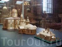 Модели трёх Исаакиевских соборов в 1/166 натуральной величины.