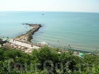 Вид на городской пляж