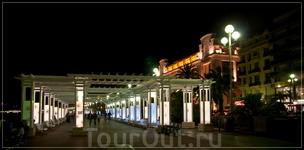 ночная Ницца,Английская набережная (Promenade des Anglais)