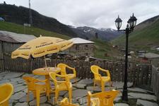 Сванетия. Село Ушгули. Кафе.