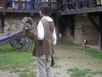Замок в Старой Любовне.Охота с птицами.