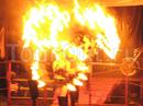 огненное шоу на празднике
