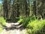 Дорога к  озерам через перевал.