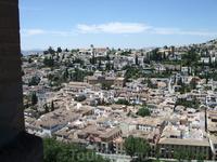 Гранада. Альгамбра. Вид на город