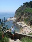 Третий, самый маленький пляж, вид с крепости.