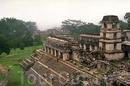 Древние руины города майя.