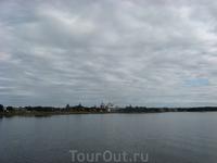 Вид Соловецкого монастыря с моря