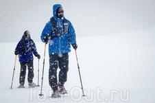 Отважные лыжники