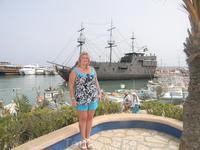 Вид на пиратский корабль Черная жемчужина