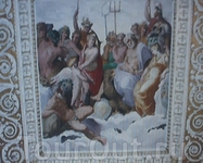 """Фреска на стене """"Геракл на Олимпе"""""""