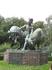 Вот такая скульптура встретилась на территории зоопарка...